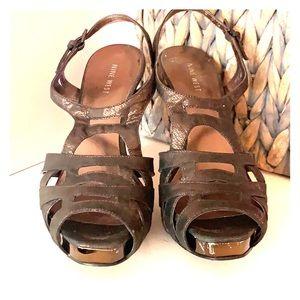 Nine West Bronze Strappy Sandals